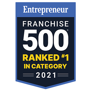 Entrepreneur Franchise 500 Ranked #1 in Category in 2021